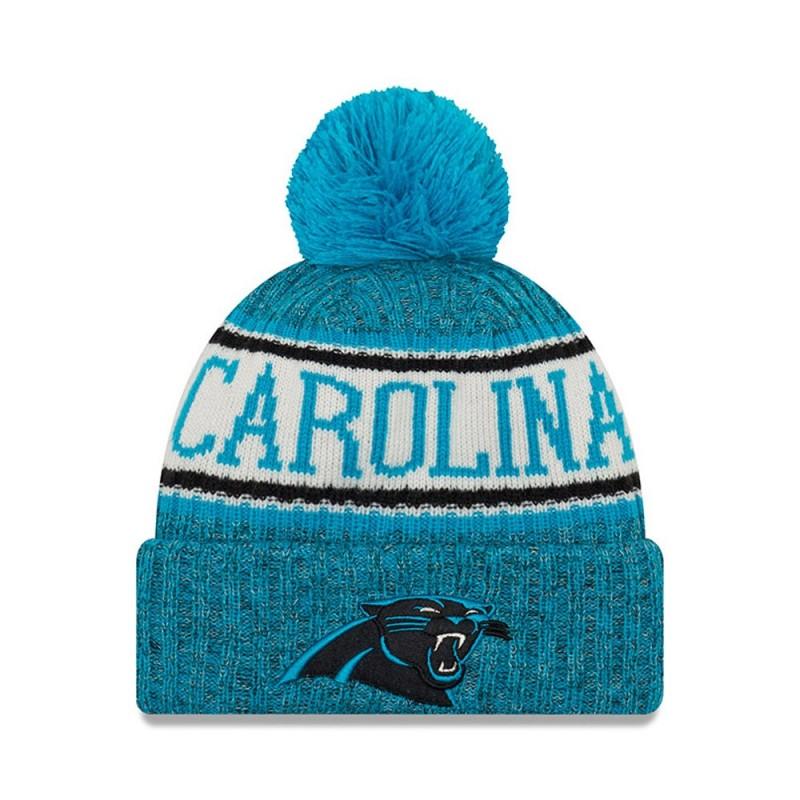 11768199_Bonnet NFL Carolina Panthers New Era On Field 2018 à pompon Bleu