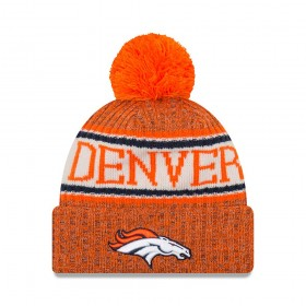11768192_Bonnet NFL Denver Broncos New Era On Field 2018 à pompon Orange