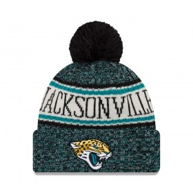 11768185_Bonnet NFL Jacksonville Jaguars New Era On Field 2018 à pompon Noir