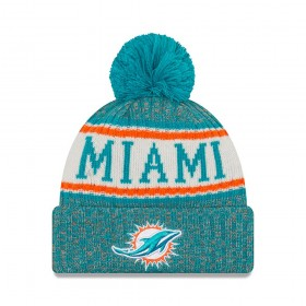 11768181_Bonnet NFL Miami Dolphins New Era On Field 2018 à pompon Vert