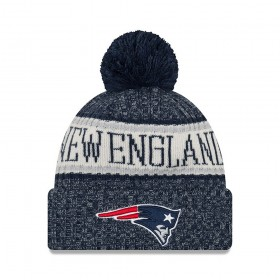 11768178_Bonnet NFL New England Patriots New Era On Field 2018 à pompon Bleu