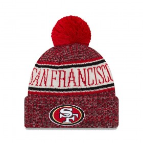 11768169_Bonnet NFL San Francisco 49ers New Era On Field 2018 à pompon Rouge