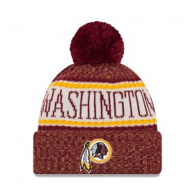 11768164_Bonnet NFL Washington Redskins New Era On Field 2018 à pompon Rouge