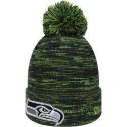 80635845_Bonnet MLB Seattle Seahawks à pompon New Era Marl vert