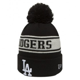 80635852_Bonnet MLB Los Angeles Dodgers à pompon New Era Seasonal Jake Noir