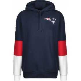 11841062_Sweat à capuche NFL New England Patriots New Era Colour Block bleu marine pour homme