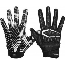 S652BLK_Gant de Football américain Cutters The Gamer 3.0 Noir