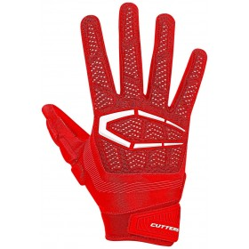 S652RED_Gant de Football américain Cutters The Gamer 3.0 Rouge