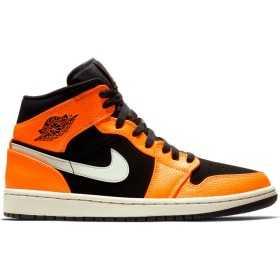 554724-062_Chaussure Air Jordan 1 Mid Orange Light Bone pour homme