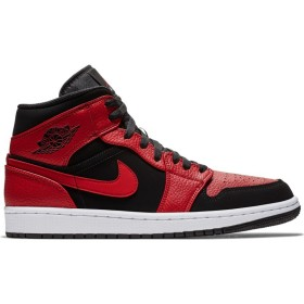 554724-054_Chaussure Air Jordan 1 Mid Rouge Gym Red pour homme