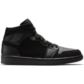 554724-064_Chaussure Air Jordan 1 Mid Noir Smoke pour homme