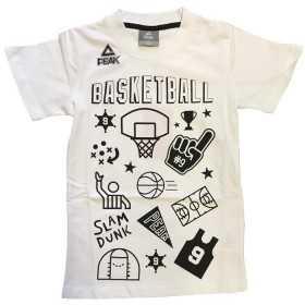 T-Shirt Peak Fantasy Basket pour enfant Blanc