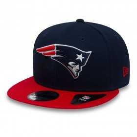 11794832_Casquette NFL New England Patriots New Era Contrast Team 9Fifty Bleu marine