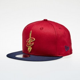 11794833_Casquette NBA Cleveland Cavaliers New Era Contrast Team 9Fifty rouge