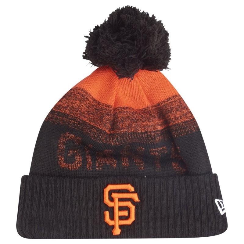 11796966_Bonnet MLB San Francisco Giants à pompon New Era Sport Knit 2 noir