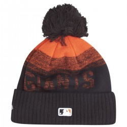 Bonnet MLB San Francisco Giants à pompon New Era Sport Knit 2 noir