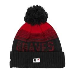 Bonnet MLB Atlanta Braves à pompon New Era Sport Knit 2 Noir