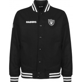 11788901_Bomber NFL Oakland Raiders New Era Team Apparel Noir pour homme