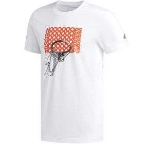 CW9193_T-shirt adidas Hoops Basketball Blanc pour homme