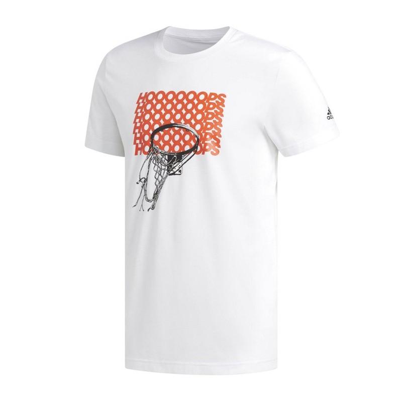 t shirt adidas blanc homme