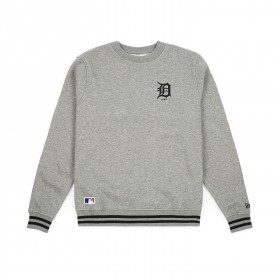 11788921_Sweat MLB Detroit Tigers New Era Team Apparel Crew Gris pour homme