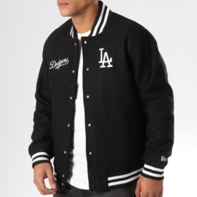 11788929_Bomber MLB Los Angeles Dodgers New Era Team Apparel Noir