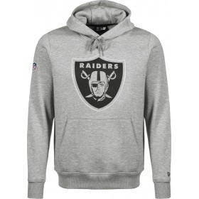 11788949_Sweat à Capuche NFL Oakland Raiders New Era Fan Pack Hoody Gris pour Homme