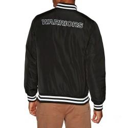 Bomber NBA Golden State Warriors New Era Team Apparel Jacket Noir pour Homme