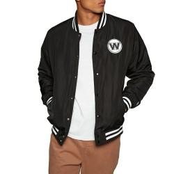 11790009_Bomber NBA Golden State Warriors New Era Team Apparel Jacket Noir pour Homme