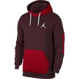 939986-652_sweat à capuche Jordan Jumpman Hybrid Fleece Rouge Bordeaux pour homme