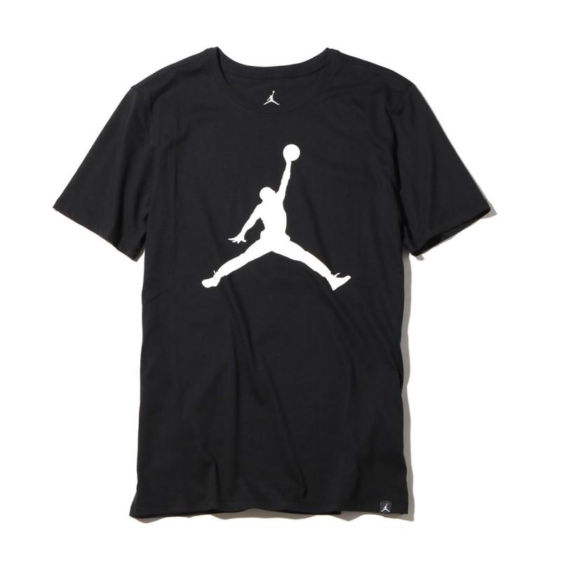 8U4293-023_T-shirt Jordan Big Logo Noir Pour Enfant