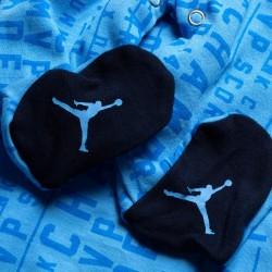 Grenouillère Jordan Coverall Footed Bleu pour bébé
