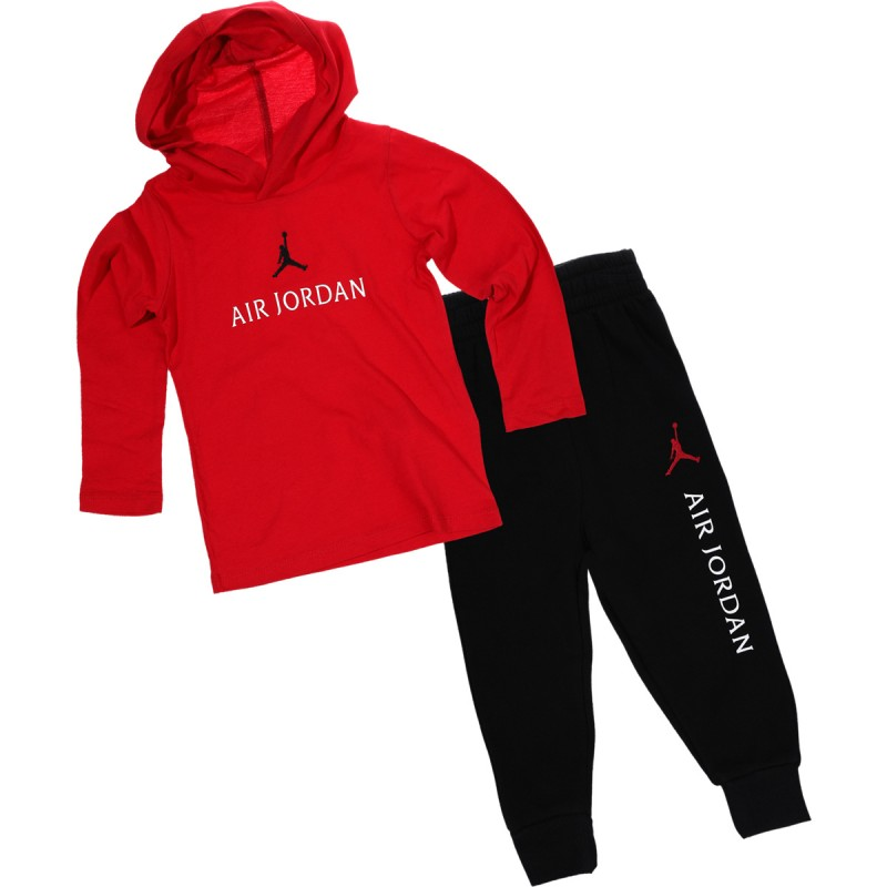 655326-023_Sweat à capuche et pantalon pour enfant Jordan Multi Hit Set Rouge