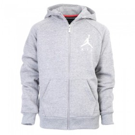 955213-GEH_Sweat à capuche Zippé pour enfant Jordan Jumpman Fleece Gris