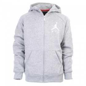 955213-GEH_Sweat à capuche Zippé pour enfant Jordan Jumpman Fleece Gris
