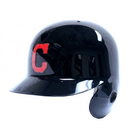 Mini Casque de baseball Replica MLB Riddell Cleveland Indians Navy