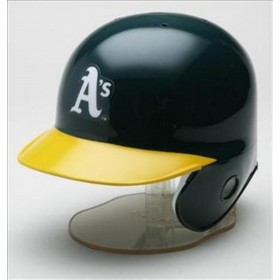 Mini Casque de baseball Replica MLB Riddell Oakland Athletic's vert