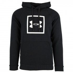 1329745-001_Sweat à capuche Under armour Rival Fleece Logo Hoodie Noir Pour Homme