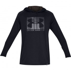 1331609-001_Sweat à capuche Under armour Lighter Longer PO Hoodie Noir Pour Homme