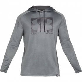 1331609-012_Sweat à capuche Under armour Lighter Longer PO Hoodie Gris Pour Homme