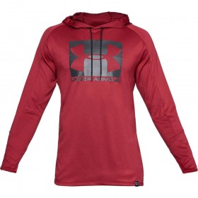 1331609-651_Sweat à capuche Under armour Lighter Longer PO Hoodie Rouge Pour Homme