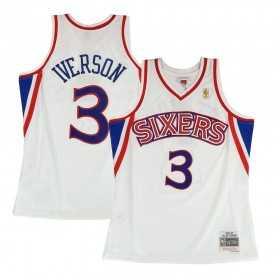 BA81MB-P76-W-JI8_Maillot NBA Allen Iverson Philadelphie Sixers 2000-01 Home Road Mitchell & ness Hardwood Classic swingman Blanc