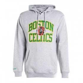 BA47OZ-BCE-G-K0Q_Sweat à Capuche NBA Boston Celtics Mitchell & ness Playoff Win Hoody Gris pour Homme