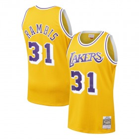 Maillot NBA swingman Kirt Rambis Los Angeles Lakers Hardwood Classics Mitchell & ness jaune