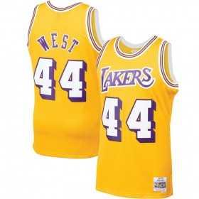 BA84QP-LAL-D-C6Y_Maillot NBA Jerry West Los Angeles Lakers 1970-71 Mitchell & ness Hardwood Classic swingman jaune