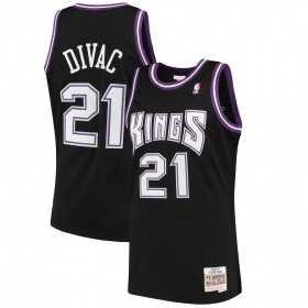 MN-NBA-353J-323-FGYA4Z_Maillot NBA swingman Vlade Divac Sacramento Kings 2000-01 Hardwood Classics Mitchell & ness noir