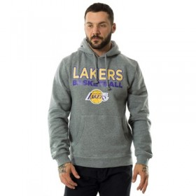 N-NBA-PURESHOOTHOOD-LALAKE_Sweat à capuche NBA Los Angeles Lakers Mitchell & Ness Pure Shooter hoody gris pour homme