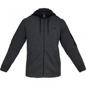 1345801-001_Sweat à capuche zippé Under Armour Microthread Fleece Noir pour homme
