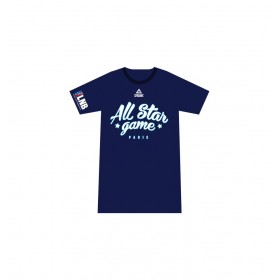 ASG011NVY_T-shirt Du All Star Game 2018 Paris Noir Bleu marine