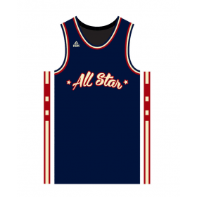 FW97761_Maillot All Star game Paris 2018 Peak Sélection Française Bleu marine